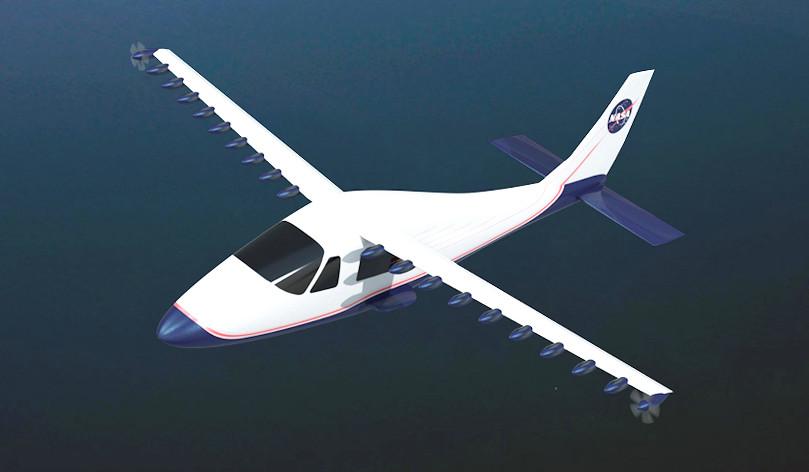 La NASA desarrolla un avión con 18 pequeños motores eléctricos