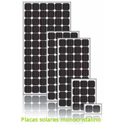 Placas solares fotovoltaicas monocristalino de ecosolar